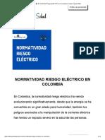 ? Normatividad Riesgo ELÉCTRICO en Colombia _ Listado vigente 2020