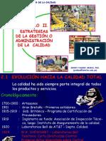 CAPITULO II. ESTRATEGIAS DE GESTIÓN O ADMINISTRACIÓN CALIDAD