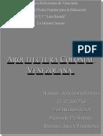 Arquitectura Colonial Venezolana (1).doc