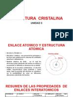 4.- U-3-ESTRUCTURA  CRISTALINA