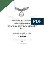 Manual de Procedimiento Evaluación Docente SDC