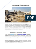 ▷ Arquitectura de la cultura Azteca