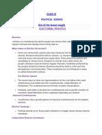 Class IX POLITICAL SCIENCE  ASSIGNMENT- 9