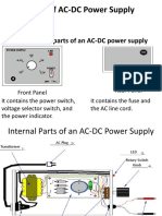 Internal Parts of an AC-DC Power Supply