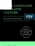 Latin Language and Culture