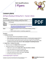 A2 Flyers 2018 Reading and Writing Part 6