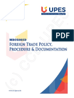 MBCG865D Foreign Trade Policy, Procedure and Documentation Ebook