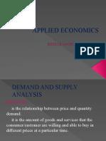 Demand and Supply Analyisi
