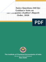 MCQ on Guidance Note CARO