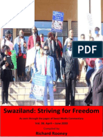 Swaziland Striving for Freedom Vol 38 Apr to June 2020
