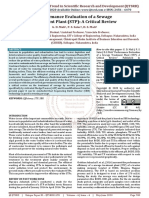 Performance Evaluation of a Sewage Treatment Plant STP A Critical Review