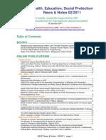 Health, Education, Social Protection News & Notes 02/2011