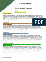 PET / B1 Reading Part 6 - Identifying Parts of Speech Activity + Exam Task