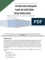 GA 16- GA 17- ÉVALUATION DES RISQUES 2020 ET PLAN DE GESTION CAADI COOP-CA