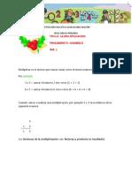 GUIA DE MULTIPLICACION