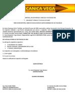 ENTREGA DE REPUESTOS DEL  JEI-1042