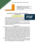 Causas externas e internas del proceso independentista Americano (resumen y notas de clase)