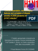 Clinical Presentation, Microbiological Features of H1n1 Flu