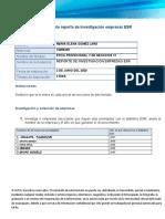Formato reporte de investigación empresas ESR