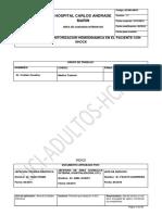 Protocolo Monitorizacion Hemodinamica el SHOCK Cristian Cevallos 2016
