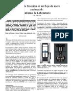 Informe de Laboratorio - Tension Test