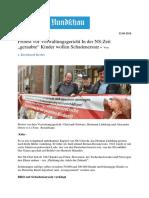 """KoelnerRundschau Protest Vor Verwaltungsgericht in Der NS-Zeit """"Geraubte"""" Kinder Wollen Schadenersatz"""