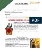 FICHA DE APRENDIZAJE - RELIGION-  EL MESÍAS PROMETIDO POR LOS PROFETAS
