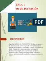 CAPITULO I PROYECTO DE INVERSION