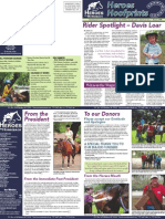 Heroes on Horseback Summer 08 Newsletter