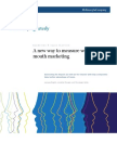 A New Way to Measure Word-Of Mouth Marketing