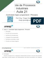 Aula 21 - Controle de Processos Industriais