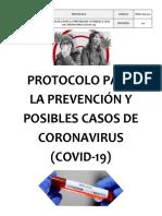 2. Protocolo Para Prevención Covid-19