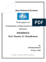 Evaluation of Information Retrieval_Ram