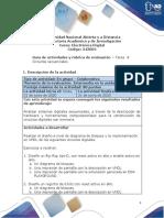 Guía de Actividades y Rúbrica de Evaluación - Tarea 4- Circuitos Secuenciales