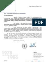Nota AFA por Elevación Protocolo Para Entrenamientos