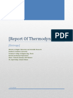 Report Of Thermodynamic
