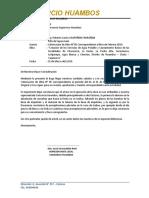 Carta N° 013-2019-RRH Valorización N° 03 Corregida