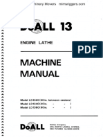 Doall 13 Engine Lathe Machine Manual 20140205