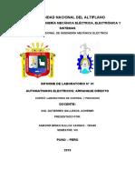 INFORME 01 - AUTOMATISMOS ELECTRICOS - ARRANQUE DIRECTO