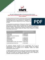 ONPE aprobó financiamiento de  nueve organizaciones políticas del nuevo Congreso 14-07-2020