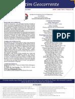 Boletim Geocorrente 46 - 12 DEZ 2016