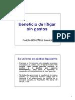 Beneficio de litigar sin gastos. Rodolfo González Zavala.pdf