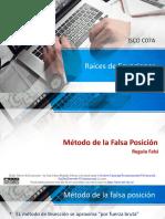LAMINAS 4- RAÍCES DE ECUACIONES - Falsa Posición