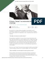 """6 frases """"fatais"""" na entrevista de emprego _ Sidnei Oliveira _ Pulse _ LinkedIn"""