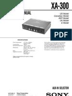 Sony XA-300 Service Manual
