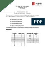 Taller 3 - PDM y Ruta Critica (Codigo PAR)