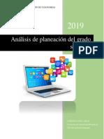 Documento de análisis en la planeación de un curso