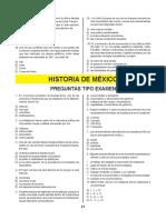 cuestionario historia de méxico 1 pae lic