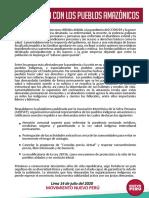 Comunicado Pueblos Amazonicos
