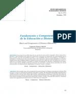 Fundamentos y Componentes de la Educación a Distancia